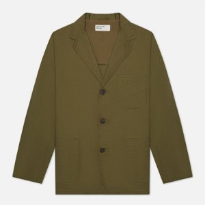 Мужской пиджак Three Button Fine Twill Universal Works. Цвет: оливковый