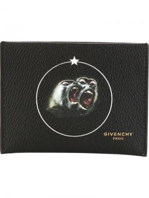 Визитница Monkey Brothers Givenchy. Цвет: чёрный
