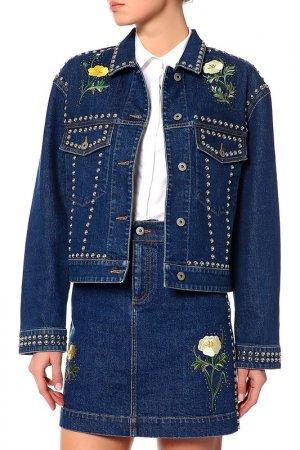 Куртка джинсовая Stella McCartney. Цвет: мультицвет