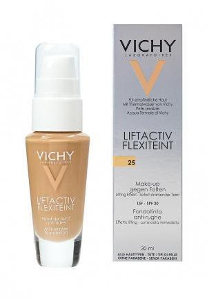 Тональное средство Vichy с эффектом лифтинга liftactiv flexilift телесный оттенок, тон 25 30 мл. Цвет: бежевый