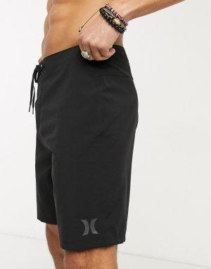 Черные пляжные шорты -Черный Hurley