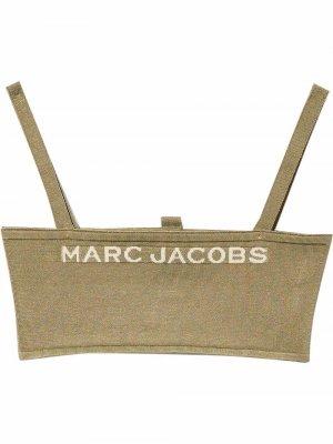Топ Bandeau вязки интарсия Marc Jacobs. Цвет: коричневый