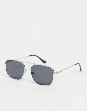 Квадратные солнцезащитные oversized-очки -Черный Madein.