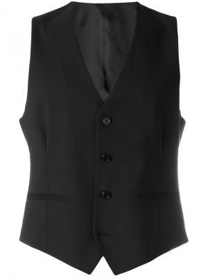 Классический жилет Versace. Цвет: чёрный
