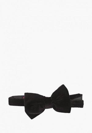 Бабочка Hugo Bow tie big velvet. Цвет: черный