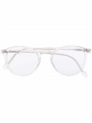 Очки в круглой оправе Vogue Eyewear. Цвет: белый