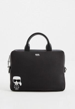 Чехол для ноутбука Karl Lagerfeld IKONIK. Цвет: черный