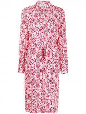 Платье-рубашка с узором пейсли Melissa Odabash. Цвет: красный