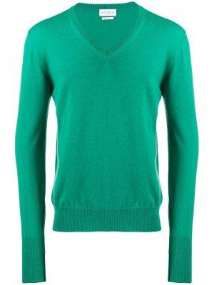 Трикотажный свитер с V-образным вырезом Ballantyne. Цвет: зеленый