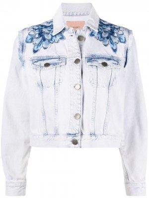 Джинсовая куртка TWINSET. Цвет: синий