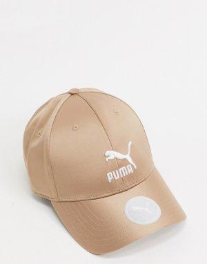 Атласная кепка в оранжевом цвете -Оранжевый Puma
