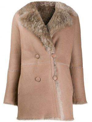 Двустороннее пальто Mila Liska. Цвет: нейтральные цвета