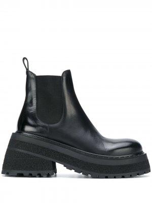 Ботинки челси на массивной подошве Marsèll. Цвет: черный