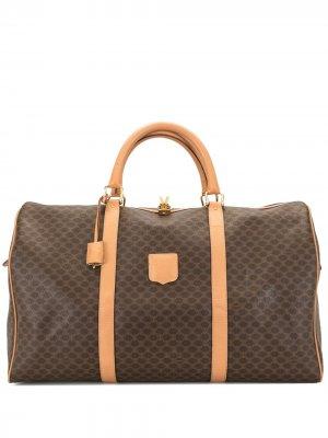 Дорожная сумка pre-owned с узором Macadam Céline. Цвет: коричневый