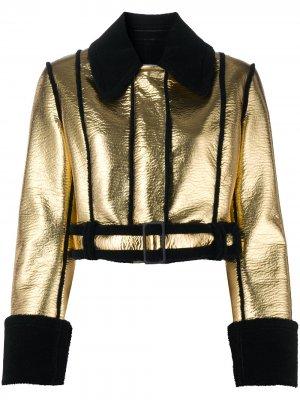 Куртка из шерпы с эффектом металлик Brognano. Цвет: золотистый