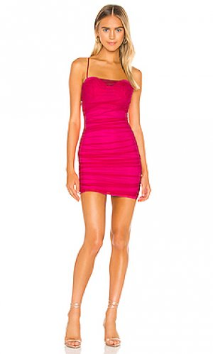 Сеточное мини платье roxanne superdown. Цвет: фуксия
