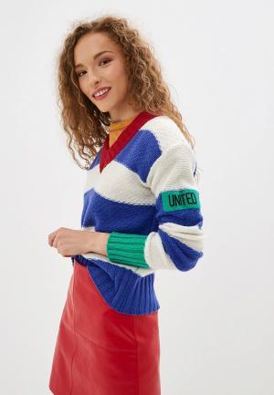 Пуловер United Colors of Benetton. Цвет: разноцветный