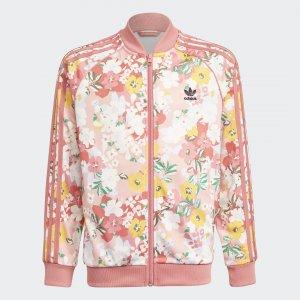 Олимпийка HER Studio London Floral SST Originals adidas. Цвет: розовый
