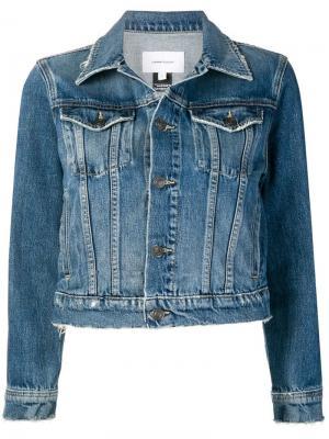 Укороченная джинсовая куртка Current/Elliott. Цвет: синий