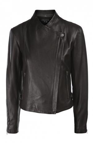 Куртка кожаная Theory. Цвет: черный