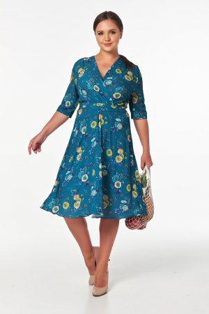 Платье с широкой юбкой миди Victoria Filippova