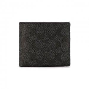 Комплект из портмоне и футляра для кредитных карт Coach. Цвет: серый
