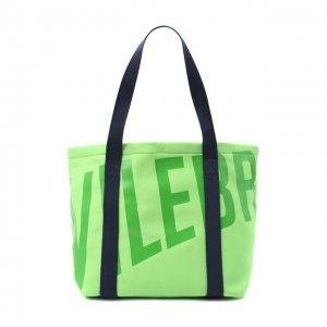 Текстильная пляжная сумка Vilebrequin. Цвет: зелёный