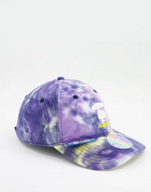 Многоцветная бейсболка с принтом тай-дай AAPE By A Bathing Ape-Фиолетовый цвет APE®