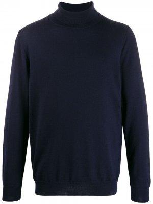 Джемпер с высоким воротником в рубчик A.P.C.. Цвет: синий