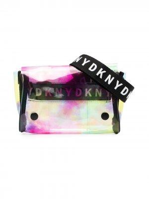 Сумка с принтом тай-дай и логотипом Dkny Kids. Цвет: нейтральные цвета