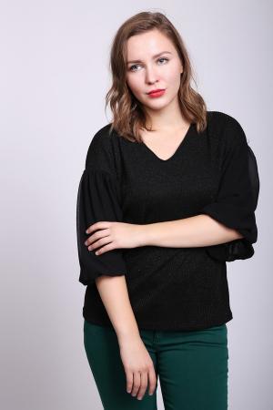 Пуловер Lecomte. Цвет: чёрный