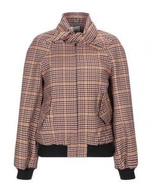 Куртка SUOLI. Цвет: коричневый