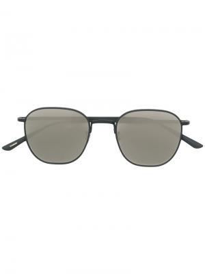Солнцезащитные очки Board Meeting 2 в круглой оправе Oliver Peoples. Цвет: серый