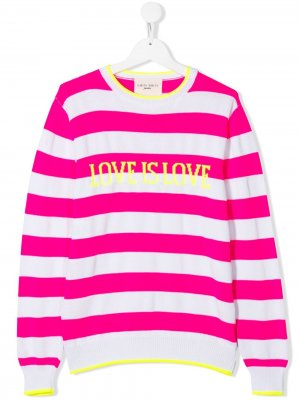 Джемпер Love Is Alberta Ferretti Kids. Цвет: розовый