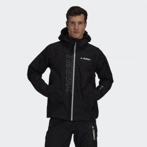 Куртка-дождевик Terrex GORE-TEX Paclite adidas. Цвет: черный