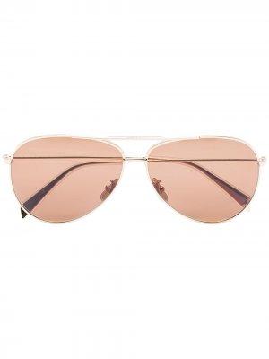 Солнцезащитные очки-авиаторы Celine Eyewear. Цвет: золотистый