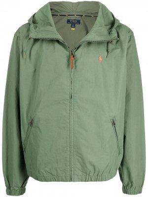Куртка с капюшоном Polo Ralph Lauren. Цвет: зеленый