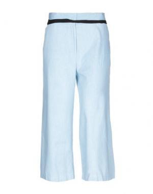Джинсовые брюки-капри SE-TA Rosy Iacovone. Цвет: синий