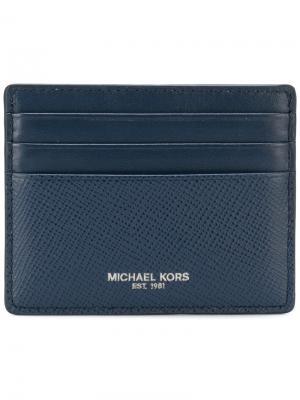 Визитница с логотипом Michael Kors Collection. Цвет: синий