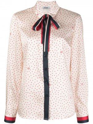 Блузка с бантом LIU JO. Цвет: нейтральные цвета