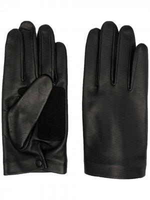 Перчатки со вставками Yohji Yamamoto. Цвет: черный