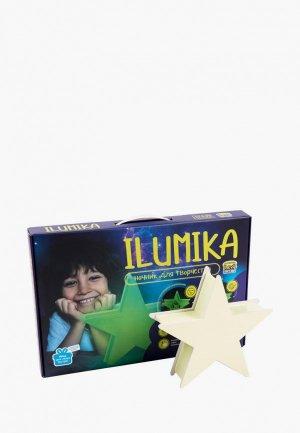 Набор для творчества Рисуй Светом Ночник ILUMIKA Звезда. Цвет: зеленый