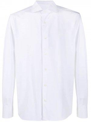 Рубашка на пуговицах с длинными рукавами Corneliani. Цвет: белый