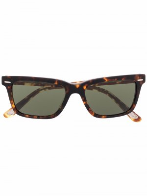 Солнцезащитные очки черепаховой расцветки Oliver Peoples. Цвет: коричневый