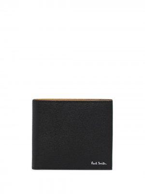 Кошелек в стиле колор-блок PAUL SMITH. Цвет: черный