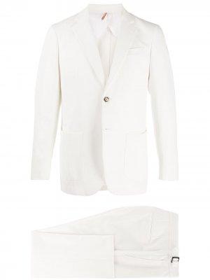 Delloglio костюм-двойка с однобортным пиджаком Dell'oglio. Цвет: белый