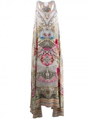 Платье макси с принтом Camilla