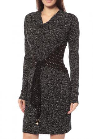 Платье Via delle Perle. Цвет: серый
