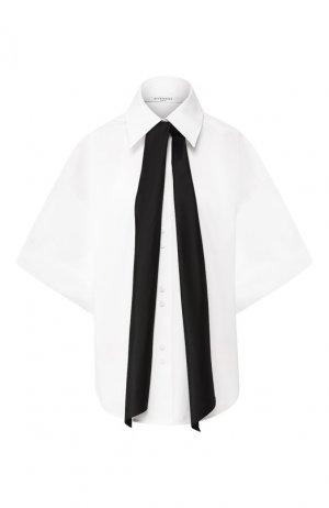 Хлопковая рубашка Givenchy. Цвет: белый
