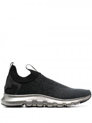 Трикотажные кроссовки-носки Z Zegna. Цвет: черный